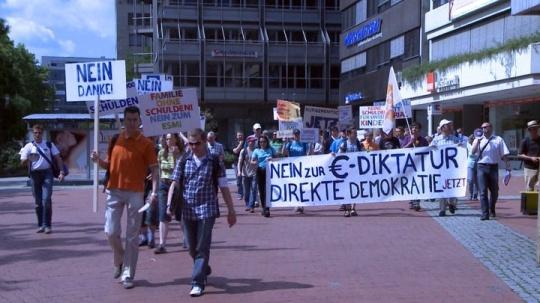 Anti Euro Demo in Stuttgart - gegen den ESM